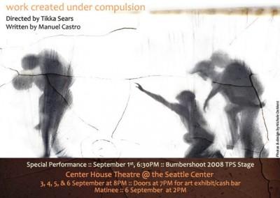 Work Under Compulsion Postcard - Memory War Theater